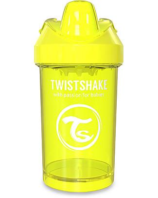 Twistshake Tazza Sippy Antigoccia Fruit Splash con Mixer per Frutta, 300 ml Giallo Starlight – Senza BPA, BPS e BPF! Tazze con Beccuccio Sippy