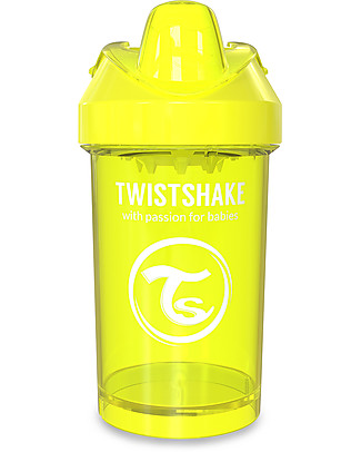 Twistshake Tazza Sippy Antigoccia Fruit Splash con Mixer per Frutta, 300 ml Giallo Starlight - Senza BPA, BPS e BPF! Tazze con Beccuccio Sippy