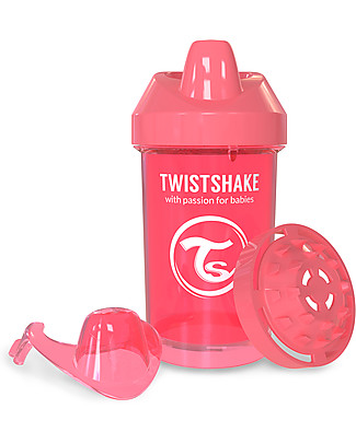 Twistshake Tazza Sippy Antigoccia Fruit Splash con Mixer per Frutta, 300 ml Pesca Dreamcatcher - Senza BPA, BPS e BPF! null