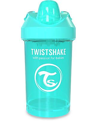 Twistshake Tazza Sippy Antigoccia Fruit Splash con Mixer per Frutta, 300 ml Turchese Sleepyhead - Senza BPA, BPS e BPF! Tazze con Beccuccio Sippy