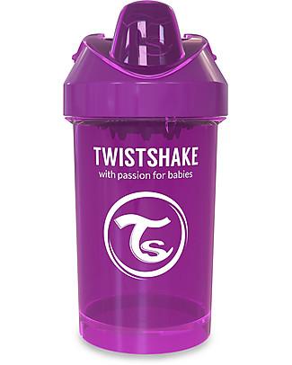 Twistshake Tazza Sippy Antigoccia Fruit Splash con Mixer per Frutta, 300 ml Viola Bestie – Senza BPA, BPS e BPF! Tazze con Beccuccio Sippy