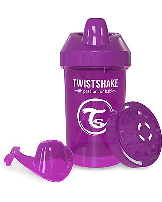 Twistshake Tazza Sippy Antigoccia Fruit Splash con Mixer per Frutta, 300 ml Viola Bestie - Senza BPA, BPS e BPF! null