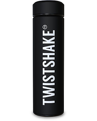 Twistshake Thermos in Acciaio Hot/Cold 420 ml, Nero Superhero - Mantiene la temperatura Fino a 10 Ore! Thermos