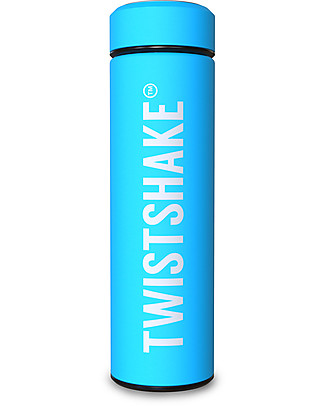 Twistshake Thermos in Acciaio Hot/Cold 420 ml, Turchese Sleepyhead - Mantiene la temperatura Fino a 10 Ore! Thermos