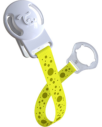 Twistshake Universal Pacifier Clip, Yellow Starlight – BPA-free! Dummies & Soothers
