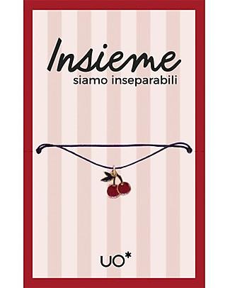 """UO* Braccialetto Charm """"Insieme siamo inseparabili"""" - Idea regalo Bracciali"""