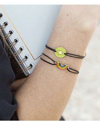 "UO  Braccialetto Charm ""Love always wins"" - Idea regalo Bracciali"