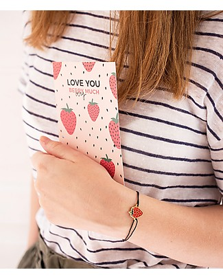 "UO* Braccialetto Charm ""Love u berry much"" - Idea regalo Bracciali"