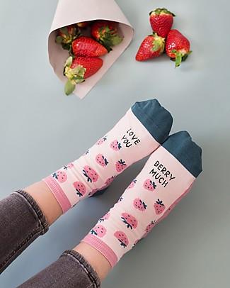 "UO* Calzini ""Love You Berry Much""- Idea regalo, Rosa Calzini"
