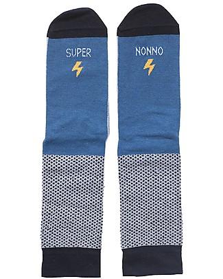 """UO Calzini """"Super Nonno"""" Idea regalo, celesti e blu Calzini"""