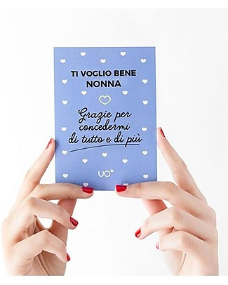 """UO Cartolina di Auguri """"Ti voglio bene nonna"""" - Idea regalo Biglietti Di Auguri"""