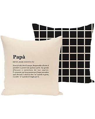 "UO* Federa Cuscino Definizione ""Papà"" - Bellissima Idea regalo! Cuscini Arredo"