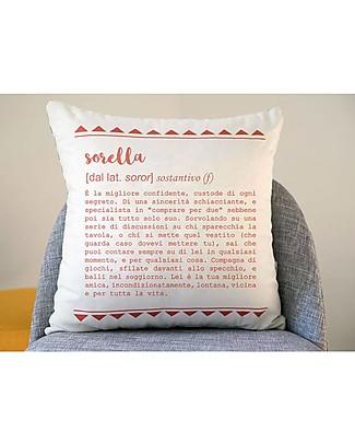 """UO Federa Cuscino Definizione """"Sorella"""" - Fantastica Idea Regalo! Cuscini Arredo"""