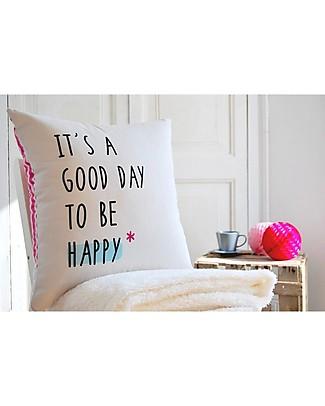 """UO Federa cuscino """"It's a Good Day to Be Happy""""  Cuscini Arredo"""