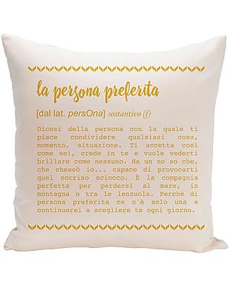 """UO Federa Cuscino """"La Persona Preferita"""" e Fantasia sul Retro! Cuscini Arredo"""