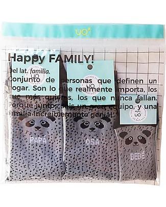 """UO Kit Family """"Familia Oso"""", Panda - Idea regalo per tutta la famiglia Calzini"""