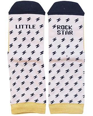 """UO Mini - Calcetines """"Little Rock Star"""" Amarillo Calzini"""
