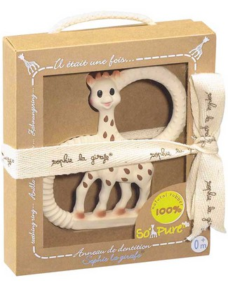 Vulli Anello da Dentizione So' Pure Sophie La Giraffa - Modello Soffice - 100% Gomma Naturale Massaggiagengive