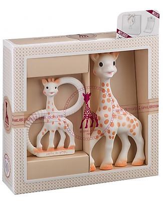 Vulli Set Anello da Dentizione e Sophie La Giraffa - 100% Gomma Naturale (Confezione Regalo) Sonagli