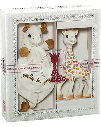 Vulli Sophiesticated, Set Tenerezza – Include Sophie la Giraffa e un Doudou abbinato, Perfetta idea regalo per neonati! Massaggiagengive