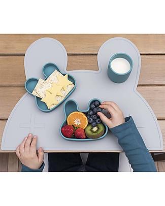 We Might Be Tiny Contenitore Snackie 2 in 1 Porta Pranzo e Piatto Coniglio, Blu Carta di Zucchero -  Senza BPA! Contenitori Latte e Snack