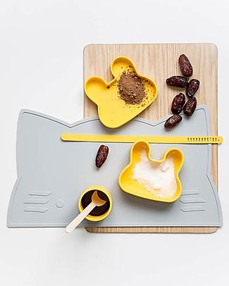 We Might Be Tiny Contenitore Snackie 2 in 1 Porta Pranzo e Piatto Coniglio, Giallo -  Senza BPA! Contenitori Latte e Snack