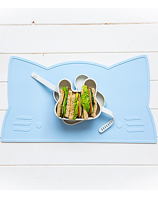 We Might Be Tiny Contenitore Snackie 2 in 1 Porta Pranzo e Piatto Coniglio, Verde Menta -  Senza BPA! Contenitori Latte e Snack