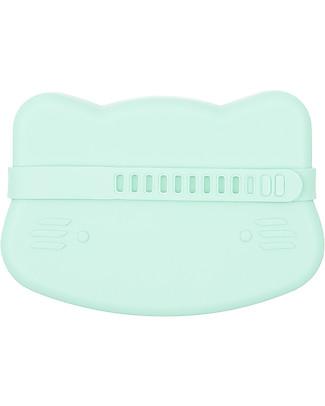 We Might Be Tiny Contenitore Snackie 2 in 1 Porta Pranzo e Piatto Gatto, Verde Menta -  Senza BPA! Contenitori Latte e Snack