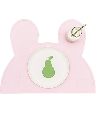 We Might Be Tiny Tovaglietta antiscivolo Coniglietto, Rosa - Senza BPA! Set Pappa