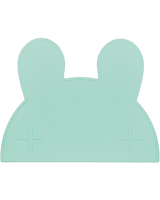 We Might Be Tiny Tovaglietta antiscivolo Coniglietto, Verde Menta - Senza BPA! Set Pappa