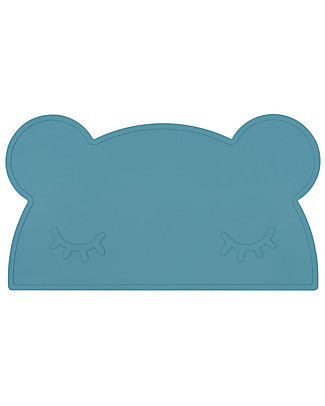 We Might Be Tiny Tovaglietta antiscivolo Orso, Blu Carta di Zucchero - Senza BPA! Set Pappa