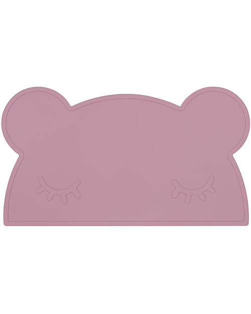 We Might Be Tiny Tovaglietta antiscivolo Orso, Rosa Antico - Senza BPA! Set Pappa