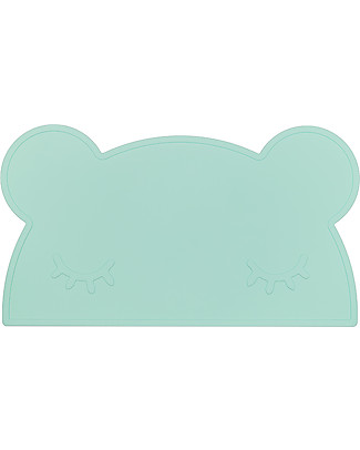 We Might Be Tiny Tovaglietta antiscivolo Orso, Verde Menta - Senza BPA! Set Pappa