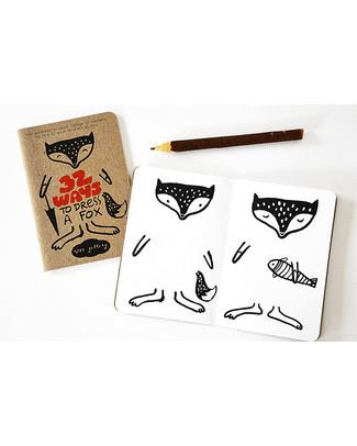 Wee Gallery 32 Modi di Vestire una Volpe (Libro Creativo - Carta Riciclata) Colorare