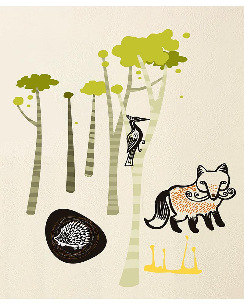 Wee gallery adesivi da parete   bordo adesivo gli amici del bosco ...