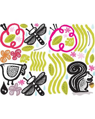 Wee Gallery Adesivi da Parete - Bordo Adesivo gli Amici del Giardino - Riposizionabili e sicuri Adesivi Da Parete