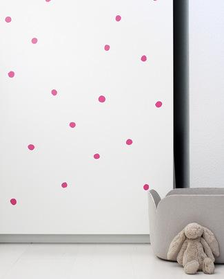 Wee Gallery Adesivi da Parete Wee Cals Pallini Rosa - Riposizionabili e Sicuri Adesivi Da Parete