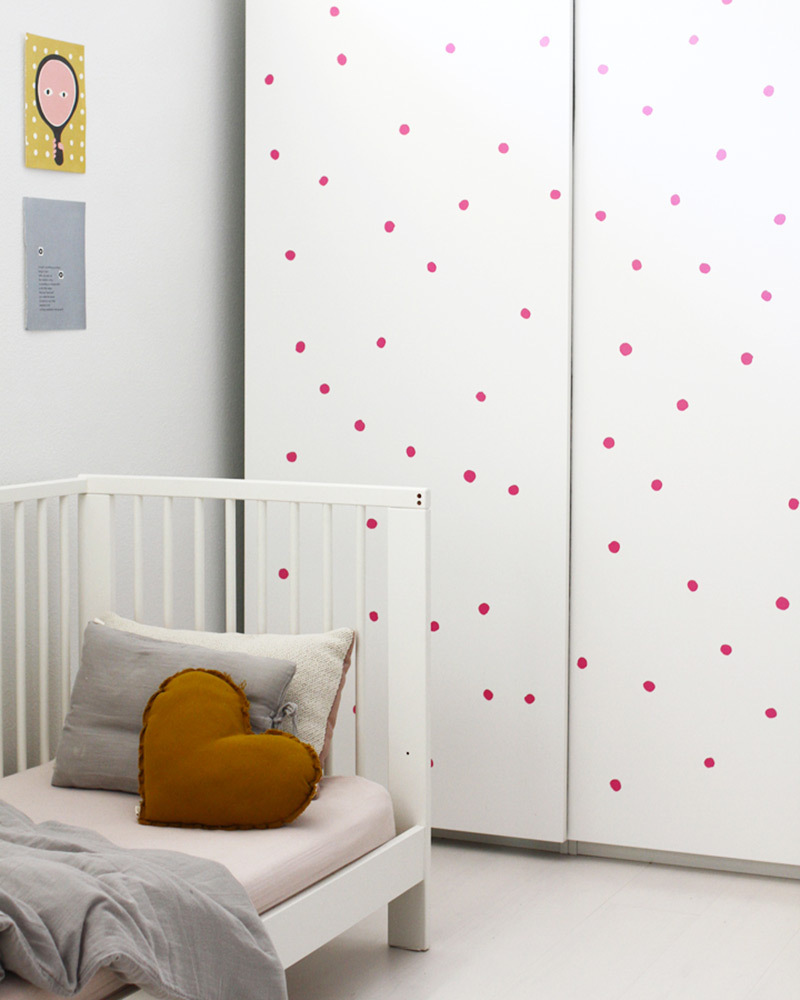 Wee gallery adesivi da parete wee cals pallini rosa ...