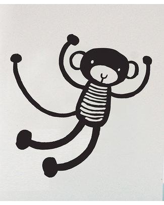 Wee Gallery Biglietto di Auguri + Busta - Scimmietta Biglietti Di Auguri