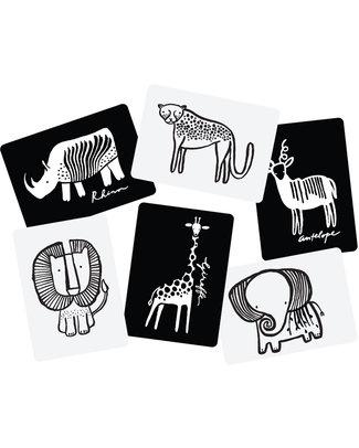 Wee Gallery Cartoline Baby Art Cards - Safari Giochi Per Neonati