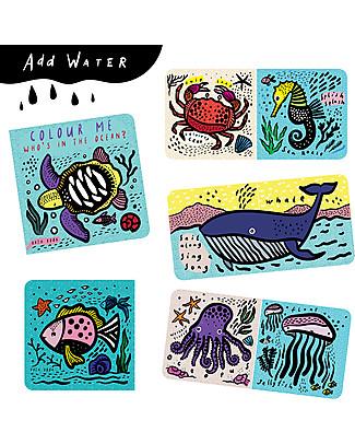 Wee Gallery Libro Acquatico, Amici dell'Oceano - Cambia colore a contatto con l'acqua! Giochi Per Inventare Storie