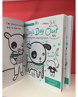 Wee Gallery Libro da colorare e disegnare, Dog's Day Out Activity Book – Libro interattivo per bambini da 2 a 5 anni! Giochi Per Inventare Storie