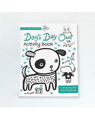 Wee Gallery Libro da colorare e disegnare, Dog's Day Out Activity Book - Libro interattivo per bambini da 2 a 5 anni! Giochi Per Inventare Storie
