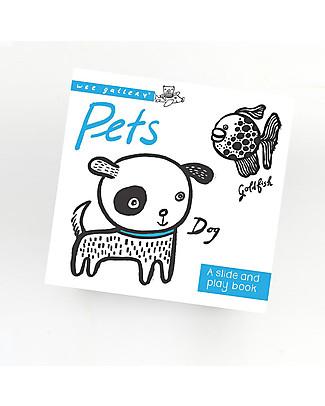 Wee Gallery Libro Interattivo Su e Giù, Animali - Per bambini da 2 a 5 anni! Giochi Per Inventare Storie