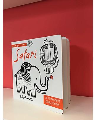 Wee Gallery Libro Interattivo Su e Giù, Safari - Per bambini da 2 a 5 anni! Giochi Per Inventare Storie