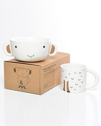 Wee Gallery Set Tazza e Ciotola in Ceramica - Agnello Piatti e Scodelle