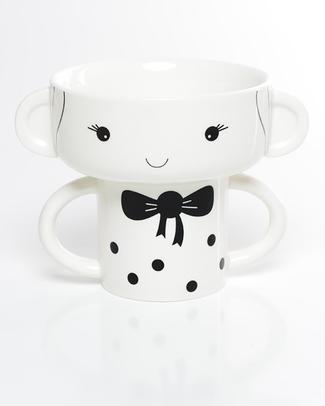Wee Gallery Set Tazza e Ciotola in Ceramica - Bambina Piatti e Scodelle