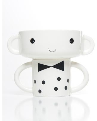 Wee Gallery Set Tazza e Ciotola in Ceramica - Bambino Piatti e Scodelle