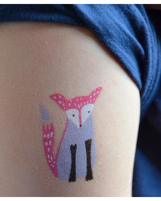 Wee Gallery Tatuaggi Temporanei Animali del Bosco (12 Pezzi) - atossici e sicuri Tattuagi