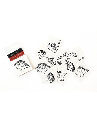 Wee Gallery Tatuaggi Temporanei - I Dinosauri (12 pezzi) -  Tatuaggi